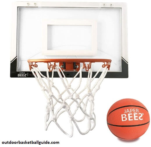 JAPER BEES Mini Pro Over The Door & Wall Mount Basketball Hoop w/Thick Shatterproof Backboard