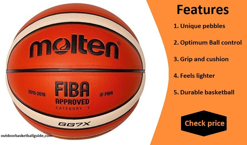 NEW Molten GG7X Basketball (BGG7X)  FIBA Approved