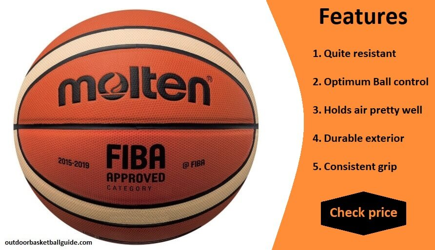 Molten GM7X Basketball (BGM7X) FIBA Approved