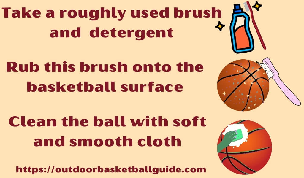 how to clean a basketball by using a toothbrush