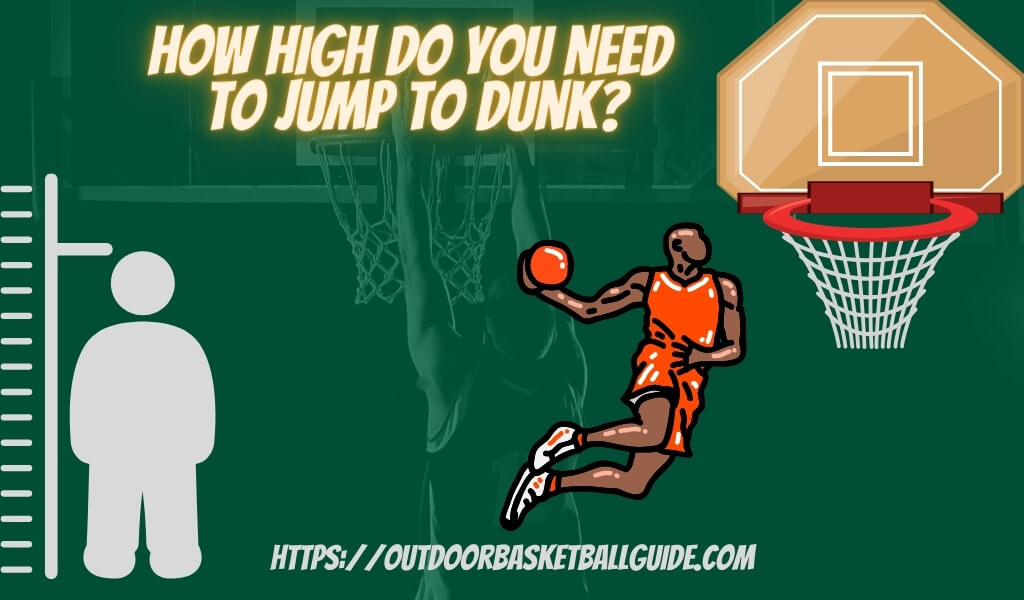 how high do you need to jump to dunk