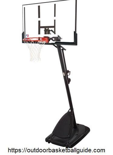 "Spalding- 54"" Polycarbonate Backboard hoop"