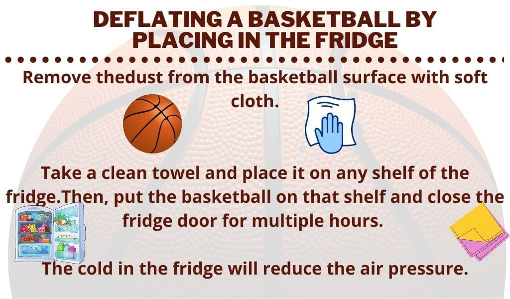 Deflating a basketball by placing in the fridge