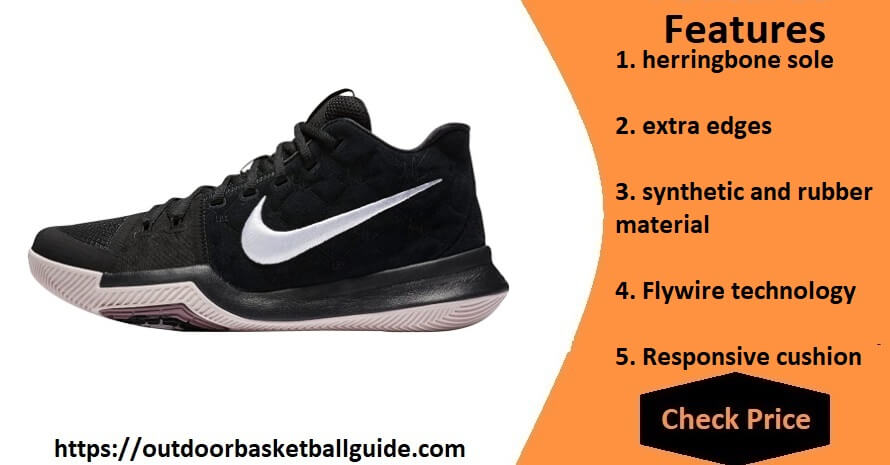 Nike Men's Kyrie 3 Hight Top Lace Up Basketball Shoes