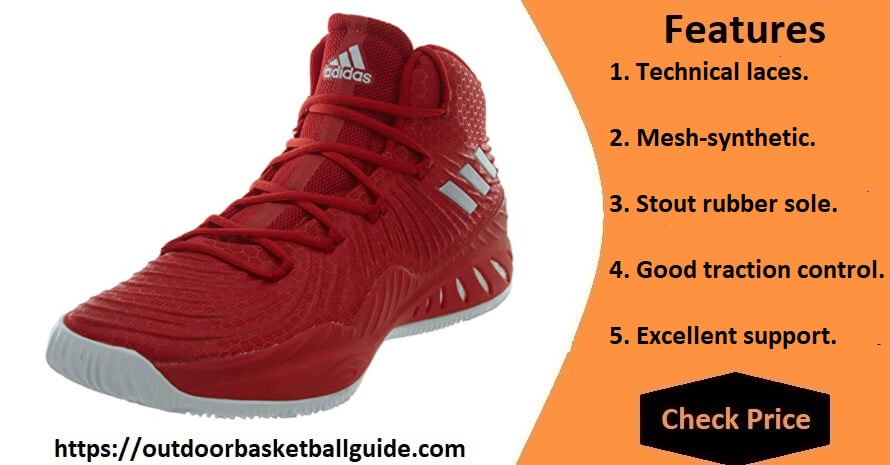 Adidas Crazy Explosive Shoe Men's - Most Supportive Basketball Shoes