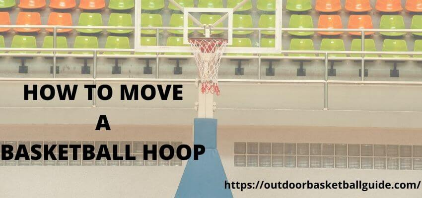 How to Move a Basketball Hoop Filled With Sand and Water